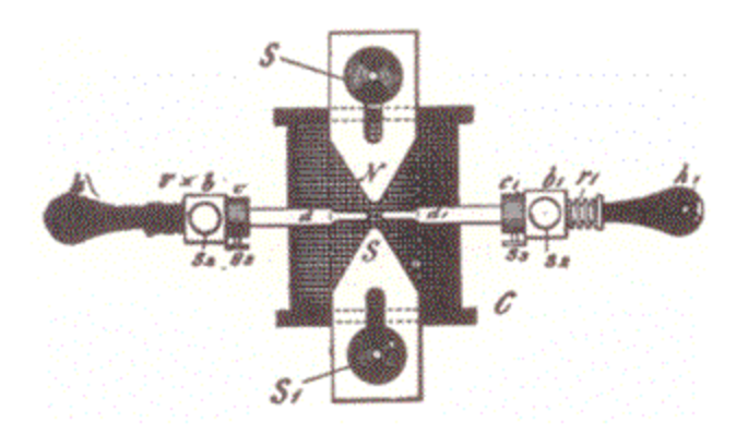Magnetically quenched spark gap from 1893 lecture