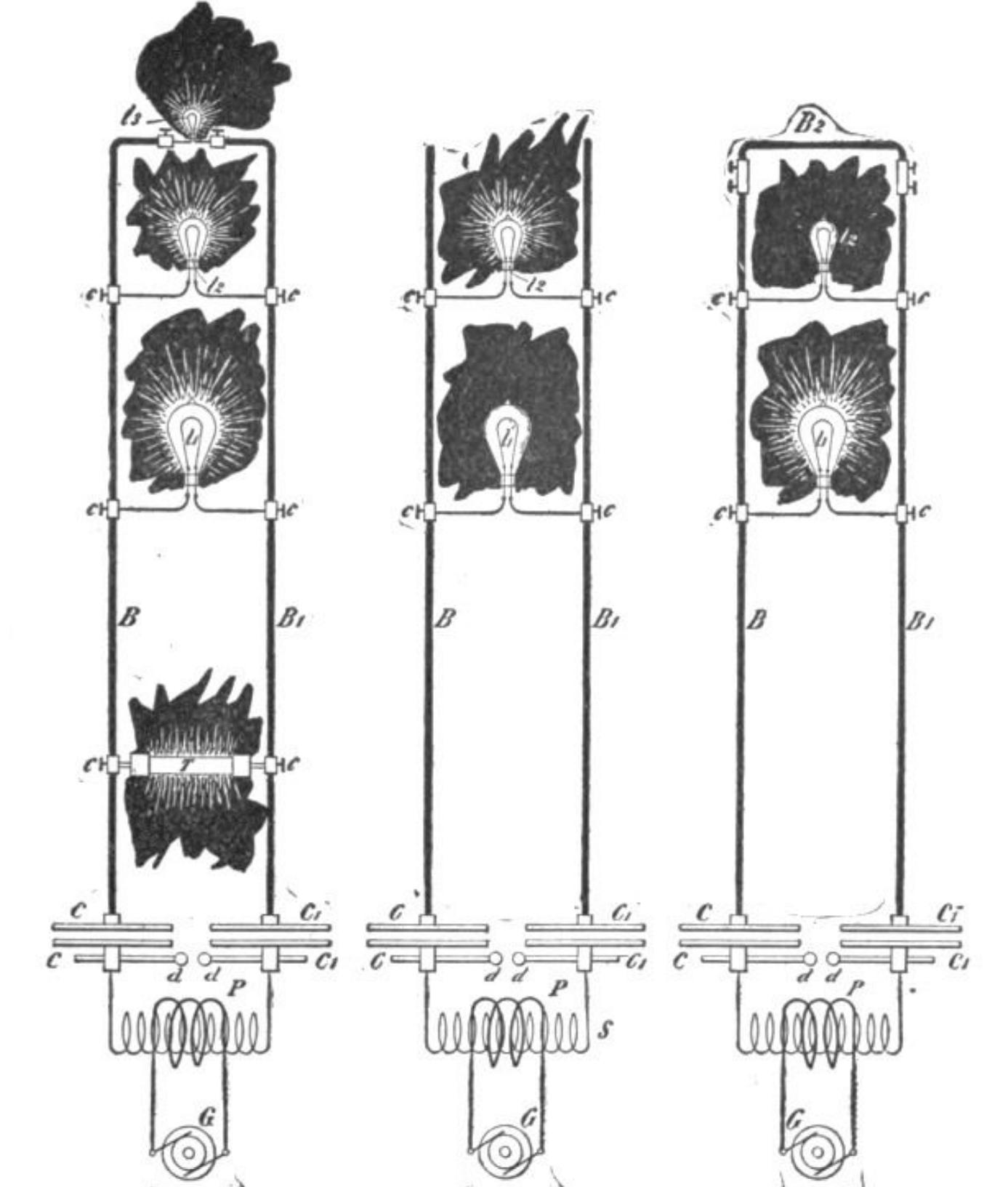 Nikola Tesla hairpin circuit stout copper bars 1893 lecture