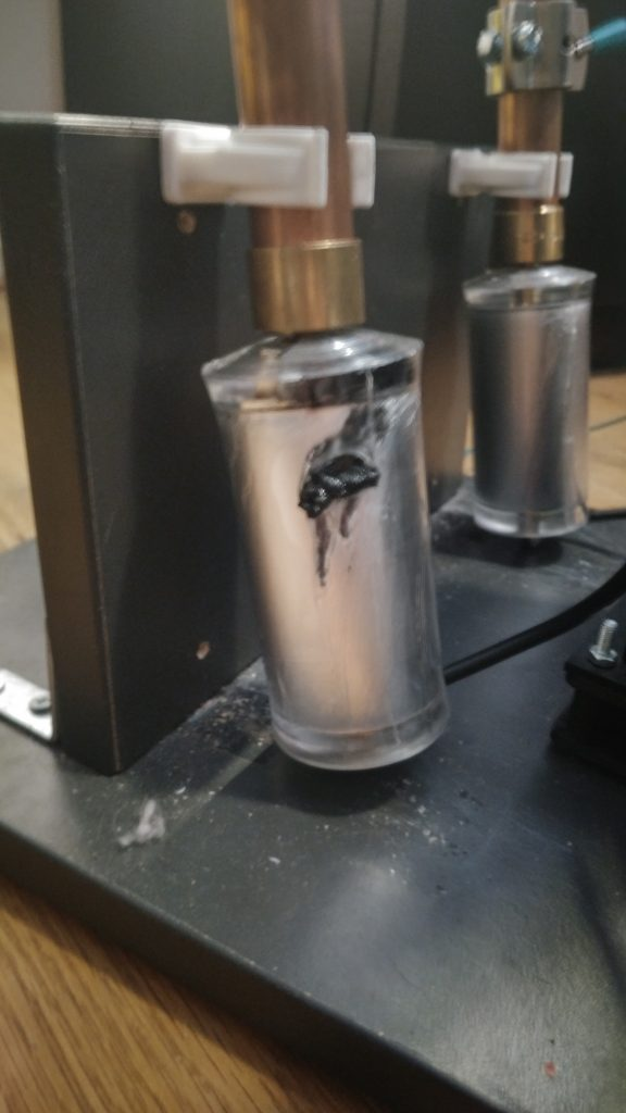 Capacitor burned through after 4 seconds of operation