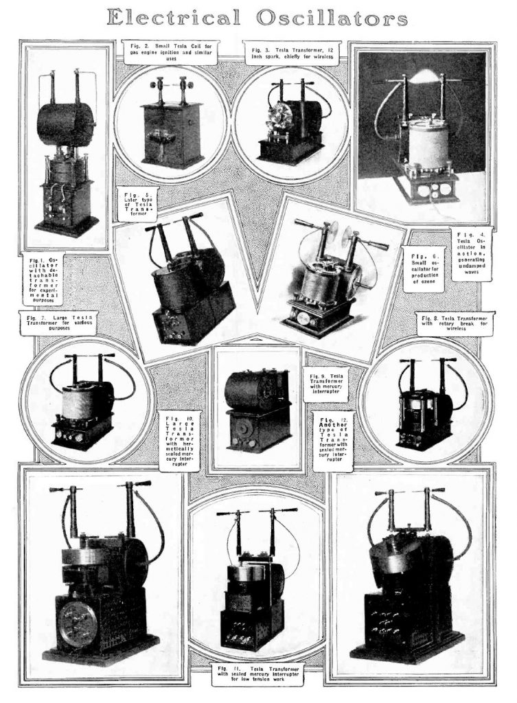 Tesla Oscillators from the Electrical Experimenter from July 1919