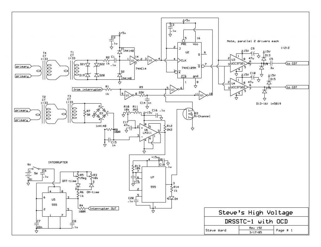 DRSSTC circuit diagram