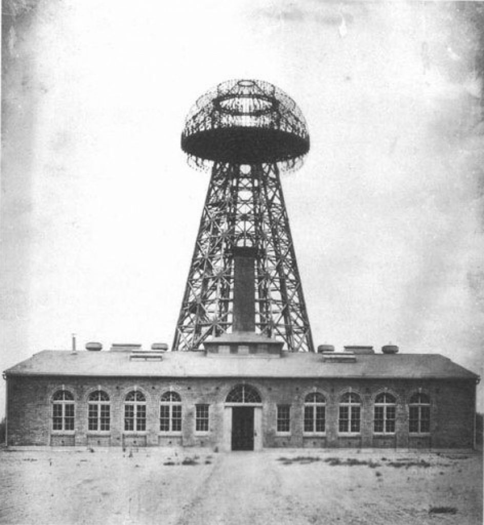 Semi-finished Wardenclyffe Tower in Shoreham, New York